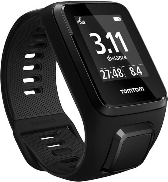 """TomTom Spark 3 Cardio + Music GPS, black, """"L"""" + Bluetooth sluchátka"""