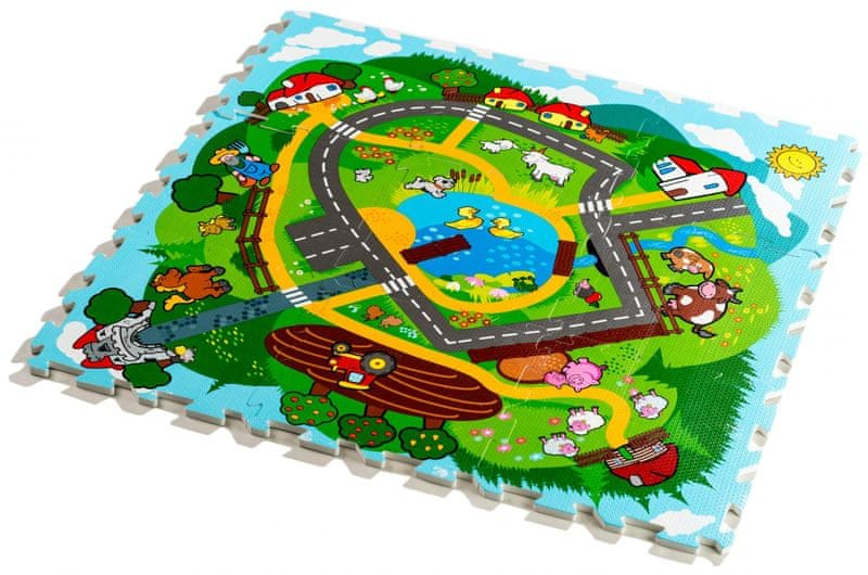 Teddies Pěnové puzzle - Město Moje první zvířátka