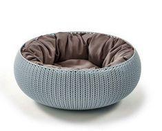 CURVER łóżko dla zwierząt KNIT - niebieskie