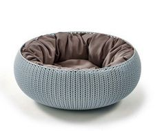 CURVER krevet za male životinje, Knit sivo plava