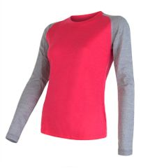 Sensor damska koszulka z długim rękawem Merino Wool Pt Logo