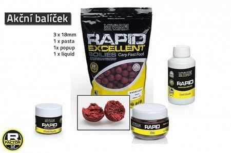 MIVARDI Akční balíček boilie a doplňků Rapid - Cherry