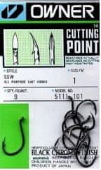 Owner háček s očkem 1/0 + cutting point  5111