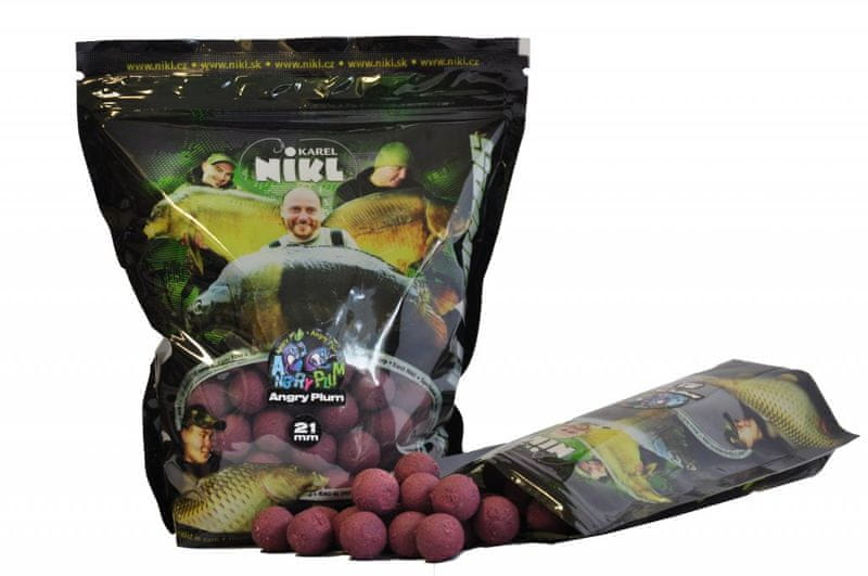 Nikl Boilies Angry Plum Ready 1 kg, 24 mm