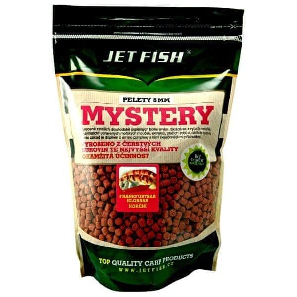 Jet Fish Mystery pelety 8mm 1 kg frankfurt.klobása/koření,