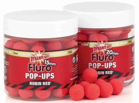 Dynamite Baits pop-ups fluro plovoucí boilies 15 mm robin red