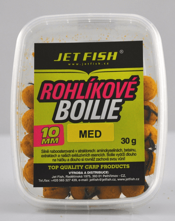 Jet Fish rohlíkové boilie 30g 10mm jahoda