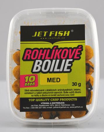 Jet Fish rohlíkové boilie 30g 10mm oliheň/scopex