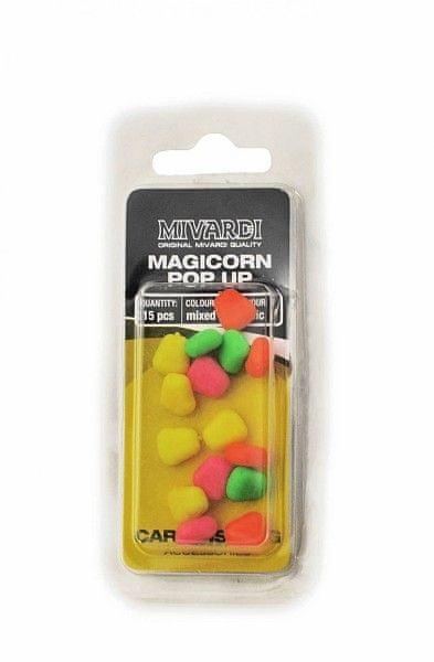 MIVARDI - Plovoucí kukuřice MagiCorn - 15ks ryba, mix barev