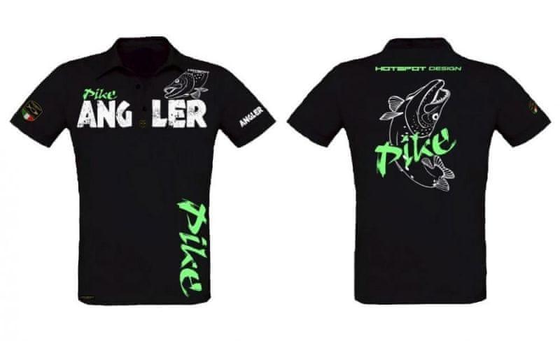 Hotspot Design Tričko s límečkem Pike Angler L