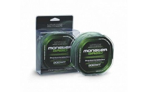 MIVARDI šňůra Monster Braid 200 m green 0,50mm, 61kg