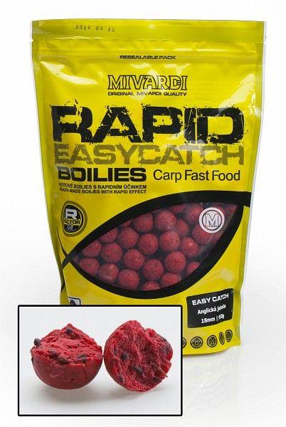 MIVARDI boilies Rapid Easy Catch 950 g 18 mm anglická jahoda