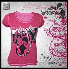 Hotspot Design Tričko Lady Angler růžové