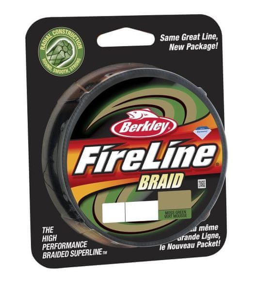 Berkley Splétaná šňůra Fireline Braid 110 m Green 0,14 mm, 14,6 kg