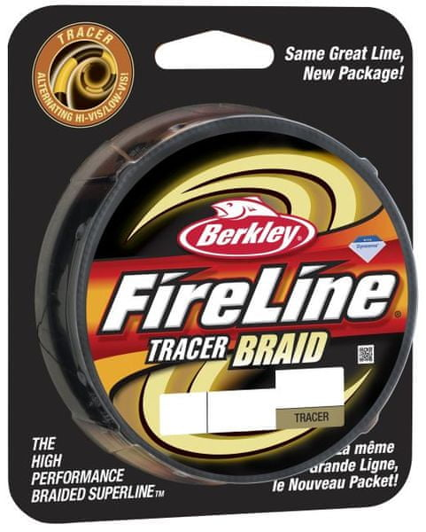 Berkley Splétaná šňůra FIRELINE TRACER BRAID 110 m Yellow Black 0,14 mm, 14,6 kg