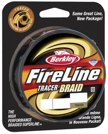 Berkley Splétaná šňůra FIRELINE TRACER BRAID 110 m Yellow Black 0,20 mm, 19,5 kg