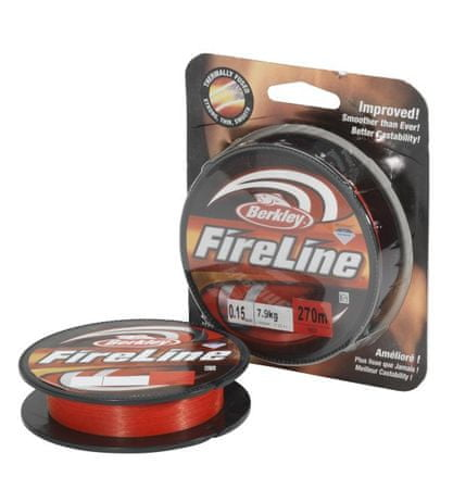Berkley šňůra FIRELINE 110 m red 0,10mm, 5,9kg