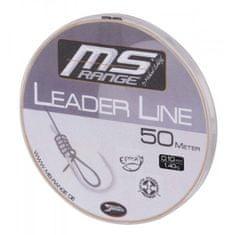 Saenger MS Range  Návazcový Vlasec Leader Line 50 m crystal