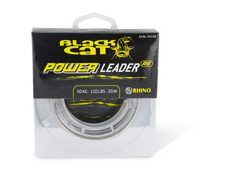 Black Cat návazcová šňůra sumcová Power Leader 20 m Sand 80 kg, 20 m