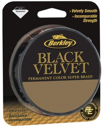 Berkley Splétaná šňůra Black Velvet 110 m black 0,20mm, 20,9kg