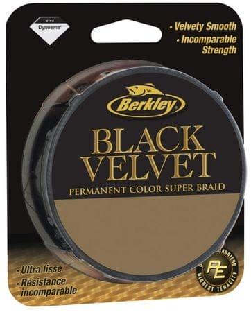 Berkley Splétaná šňůra Black Velvet 110 m black 0,18 mm, 19,2 kg