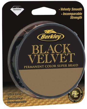 Berkley Splétaná šňůra Black Velvet 110 m black 0,25 mm, 25,8 kg