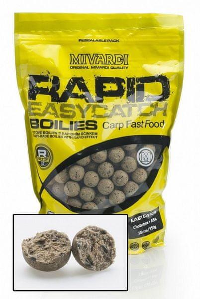 MIVARDI Boilie Rapid Easy Catch 950 g 24 mm česnek+chilli