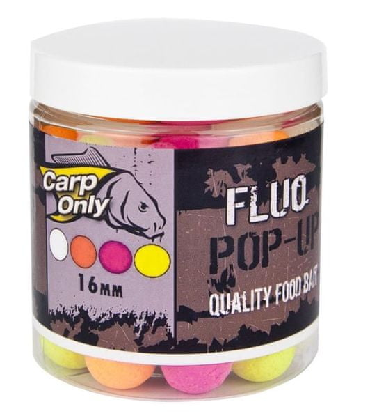 Carp Only fluo pop up boilie 100 g 16 mm mix