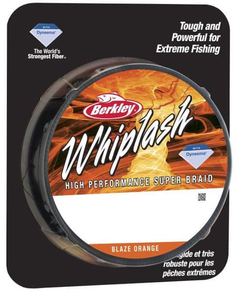 Berkley Splétaná šňůra WHIPLASH 110 m oranžová 0,08 mm, 12,3 kg