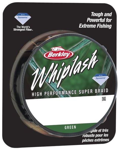 Berkley Splétaná šňůra WHIPLASH 110 m green 0,14 mm, 18,3 kg
