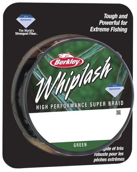 Berkley Splétaná šňůra WHIPLASH 110 m green 0,10 mm, 14,1 kg