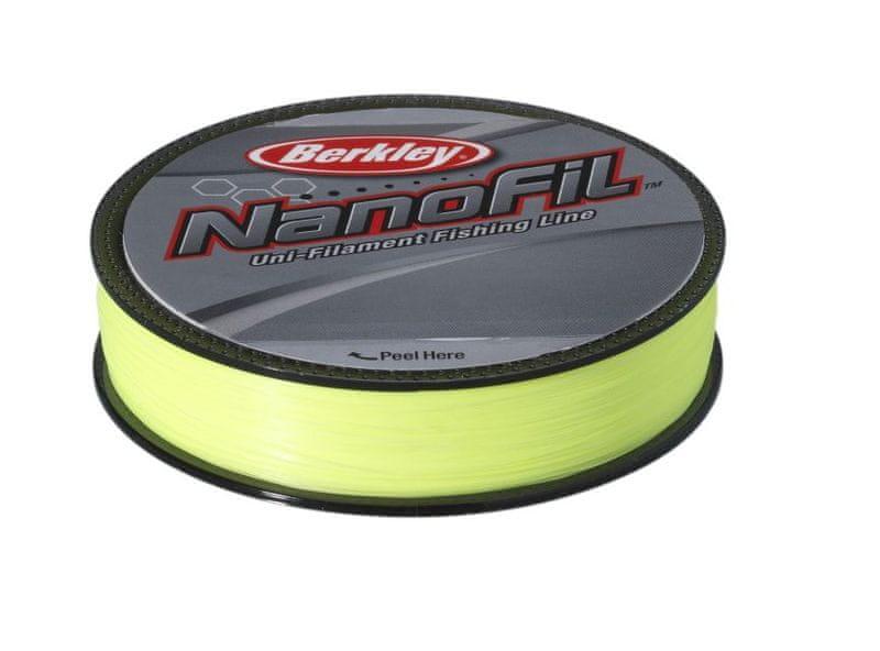 Berkley Vlasec Nanofil Fluo žlutá 125 m 0,15 mm, 7,659 kg