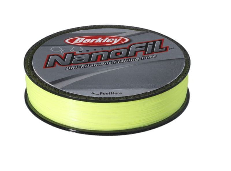 Berkley Vlasec Nanofil Fluo žlutá 125 m 0,22 mm, 14,715 kg