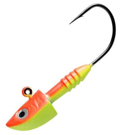 Berkley jigová hlavička jig all round fluo or/y 7 g, 1/0