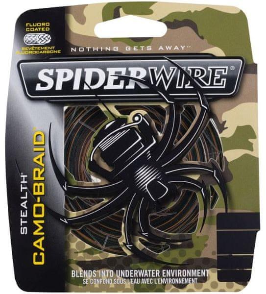 Spiderwire Splétaná šňůra Stealth 110 m camo 0,35mm, 30,72kg