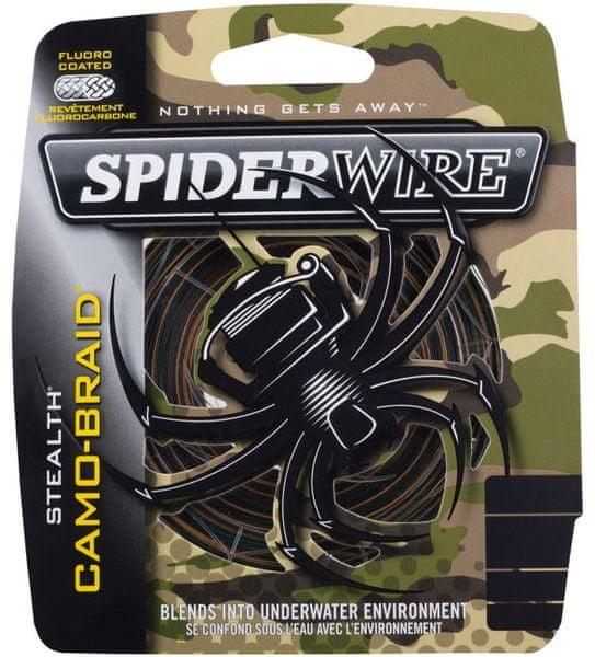 Spiderwire Splétaná šňůra Stealth 110 m camo 0,25mm, 18,92kg
