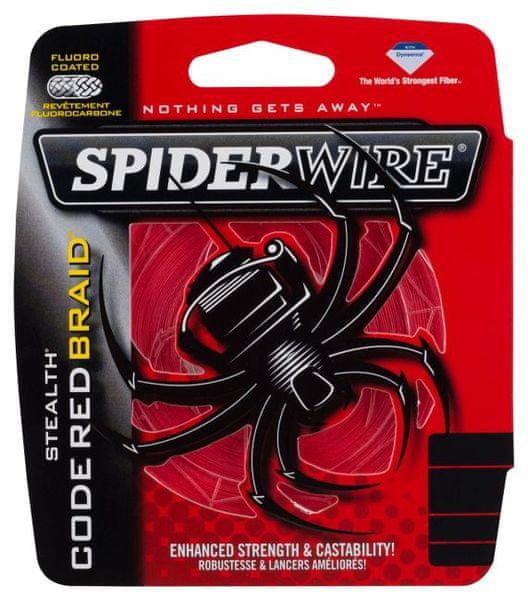 Spiderwire Splétaná šňůra STEALTH 110 m červená 0,35mm, 30,72kg
