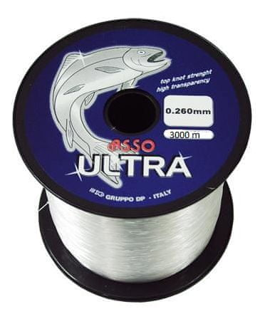 Asso Vlasec Ultra Crystal 3000 m 0,22 mm, 9 kg