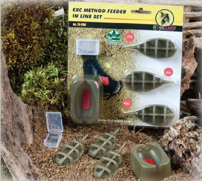 Extra Carp method feeder set 20,30,40 g