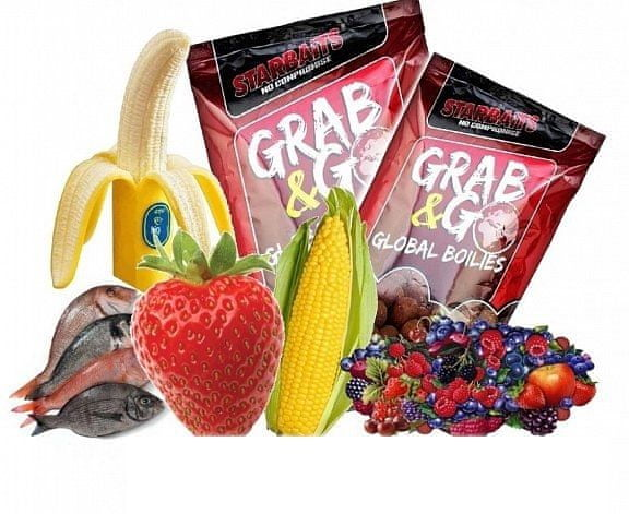 Starbaits Boilie Grab & Go Global Boilies 2,5 kg 20 mm Strawberry jam