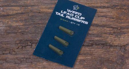 Nash Převlek na závěsku Weed Lead Clip Tail Rubber 10ks