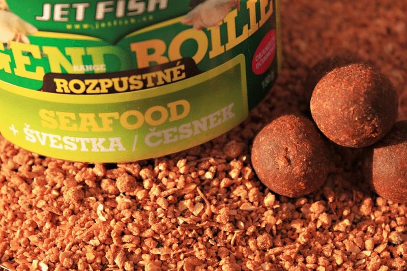 Jet Fish rozpustné boilie 150 g 20 mm glm enduro+a.c.mušle