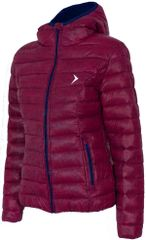 Outhorn kurtka puchowa KUD602 bordowy melanż