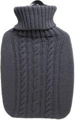Hugo Frosch Termofor Classic s pleteným obalom, šedý