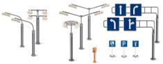 SIKU World - príslušenstvo dopravné značky a pouličné lampy