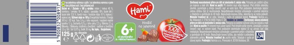 Hami Hovězí na zelenině - 6 x 125g