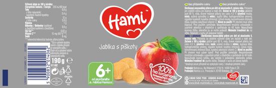 Hami Jablká s piškótami - 6 x 190gškrob.