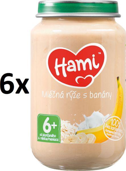 Hami Mléčná rýže s banány - 6 x 190g