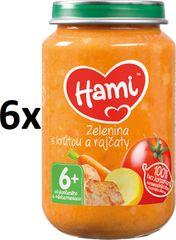 Hami Zelenina s krůtou a rajčaty - 6 x 200g
