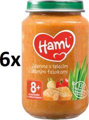 Hami Zelenina s telecím a zelenými fazolkami - 6 x 200g
